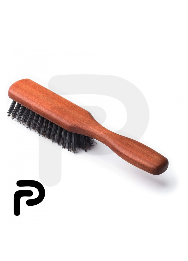 Boar Bristle Beard and Mustache Brush with Handle for Untangling Beard Hairs
